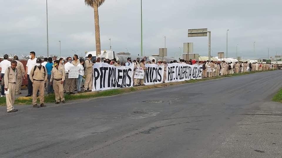 Así esperaban trabajadores de PEMEX al Senador Samuel García