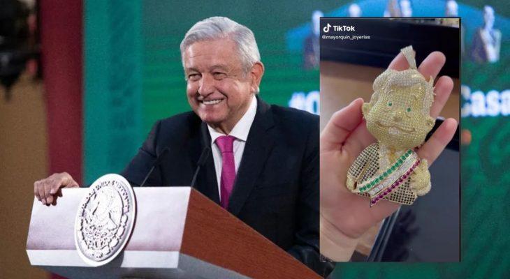 Joyería en Guadalajara plasma imagen de AMLO en dije con zirconias y oro de  14 kilates ¡Cuesta 200 mil pesos! – Sin Línea Mx